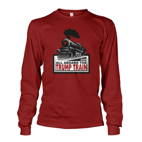 Image of Trump Train 2020 Long Sleeve - Cardinal Red / S / Unisex Long Sleeve - Long Sleeves
