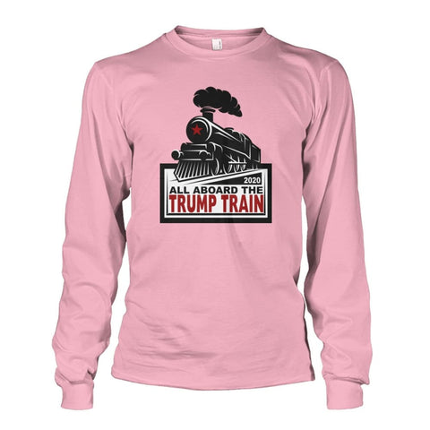 Image of Trump Train 2020 Long Sleeve - Light Pink / S / Unisex Long Sleeve - Long Sleeves