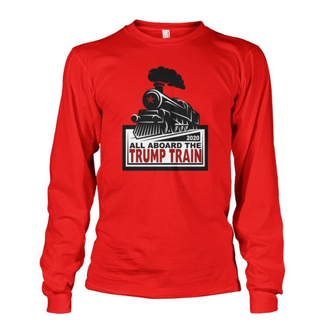 Image of Trump Train 2020 Long Sleeve - Red / S / Unisex Long Sleeve - Long Sleeves