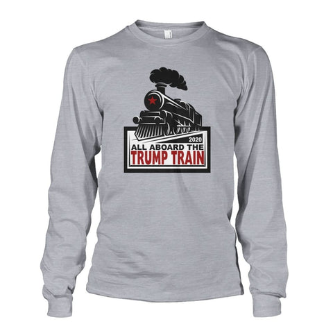 Image of Trump Train 2020 Long Sleeve - Sports Grey / S / Unisex Long Sleeve - Long Sleeves