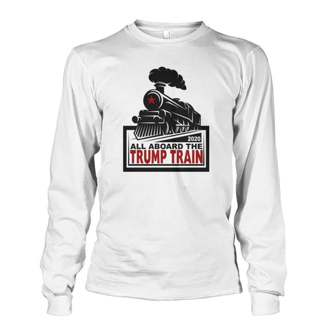 Image of Trump Train 2020 Long Sleeve - White / S / Unisex Long Sleeve - Long Sleeves