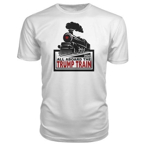 Trump Train 2020 Premium Tee - Navy / S / Premium Unisex Tee - Short Sleeves