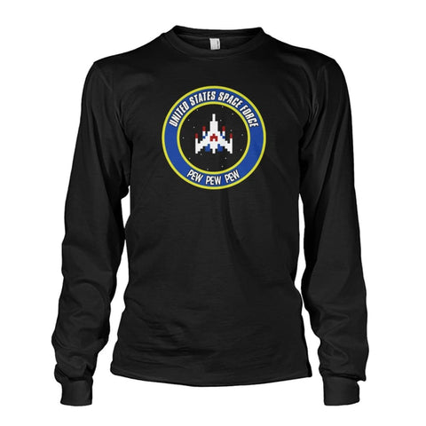 Image of United States Space Force Long Sleeve - Black / S / Unisex Long Sleeve - Long Sleeves