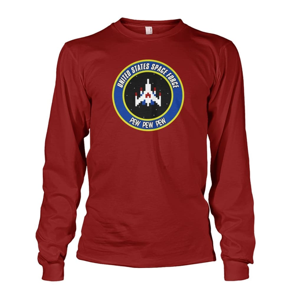 United States Space Force Long Sleeve - Cardinal Red / S / Unisex Long Sleeve - Long Sleeves