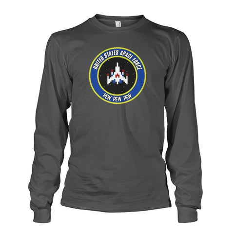 Image of United States Space Force Long Sleeve - Charcoal / S / Unisex Long Sleeve - Long Sleeves