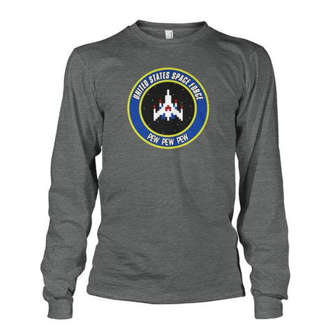 Image of United States Space Force Long Sleeve - Dark Heather / S / Unisex Long Sleeve - Long Sleeves