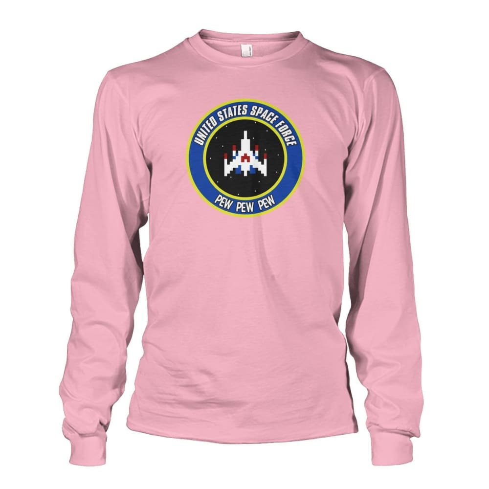 United States Space Force Long Sleeve - Light Pink / S / Unisex Long Sleeve - Long Sleeves
