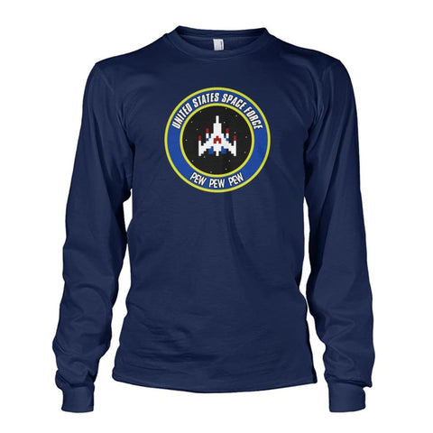 Image of United States Space Force Long Sleeve - Navy / S / Unisex Long Sleeve - Long Sleeves