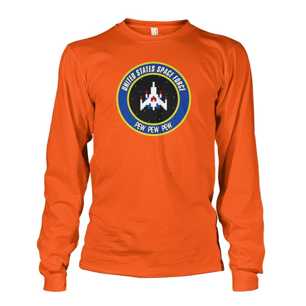 United States Space Force Long Sleeve - Orange / S / Unisex Long Sleeve - Long Sleeves