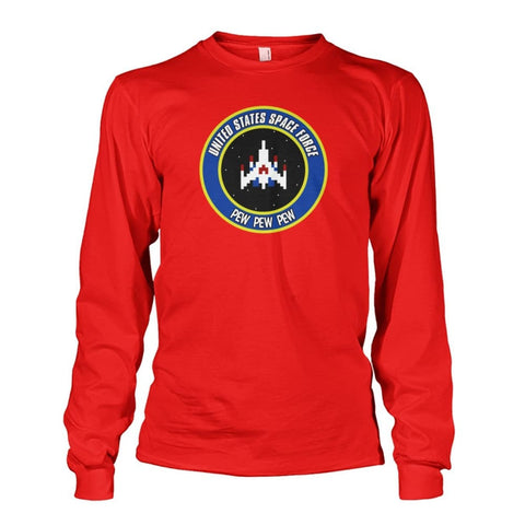 Image of United States Space Force Long Sleeve - Red / S / Unisex Long Sleeve - Long Sleeves
