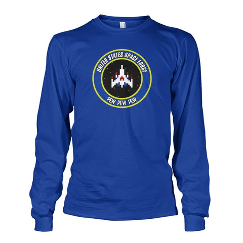 Image of United States Space Force Long Sleeve - Royal / S / Unisex Long Sleeve - Long Sleeves