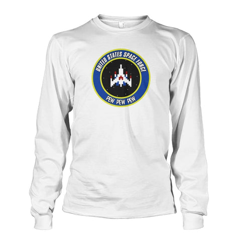 Image of United States Space Force Long Sleeve - White / S / Unisex Long Sleeve - Long Sleeves