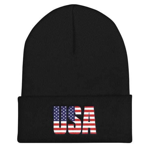 Image of USA Cuffed Beanie - Black