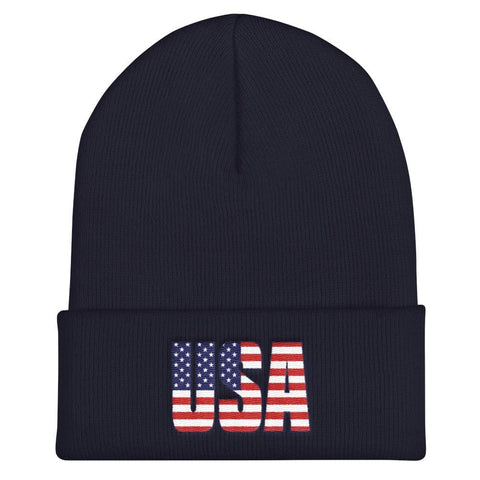 Image of USA Cuffed Beanie - Navy