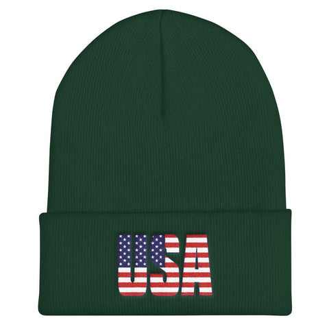 Image of USA Cuffed Beanie - Spruce