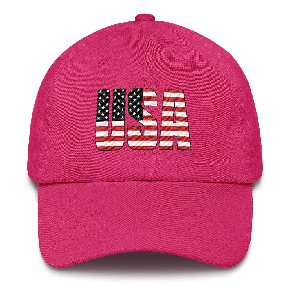 USA *MADE IN THE USA* Hat - Bright Pink