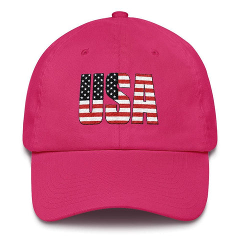 Image of USA *MADE IN THE USA* Hat - Bright Pink