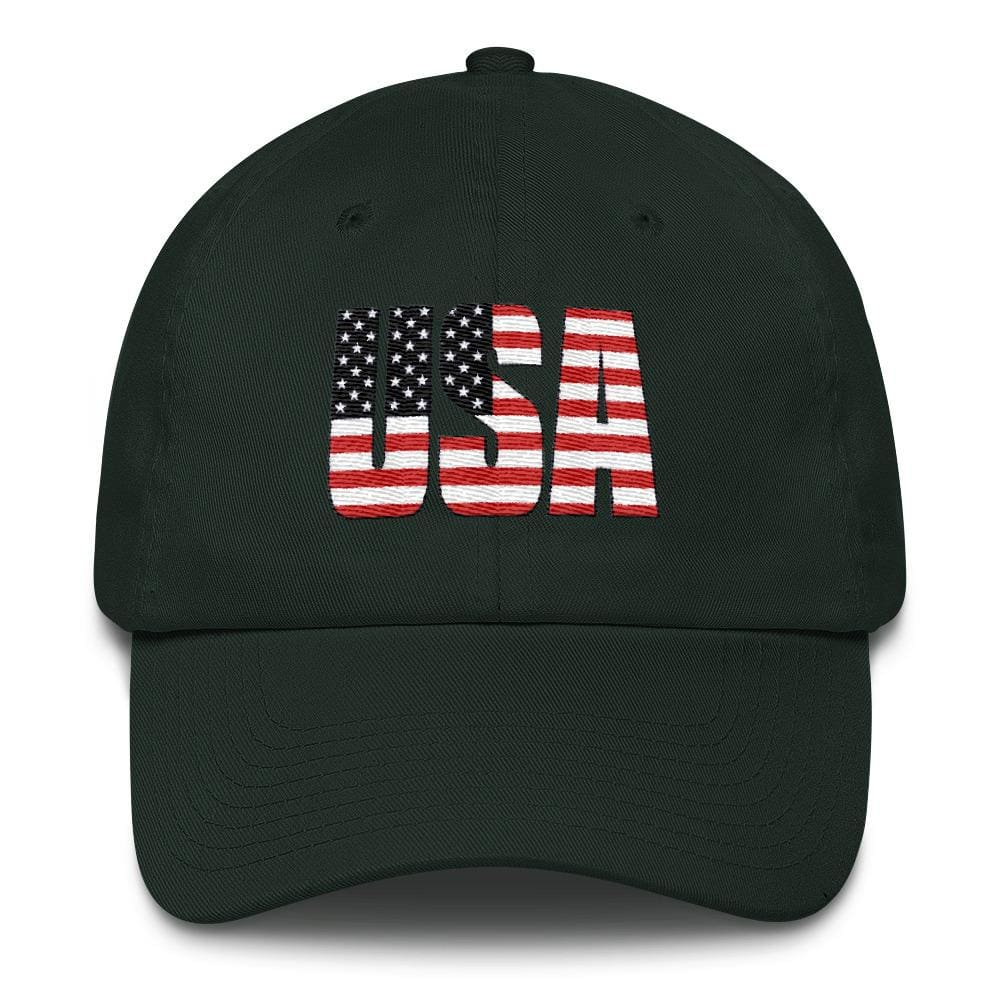 USA *MADE IN THE USA* Hat - Forest Green