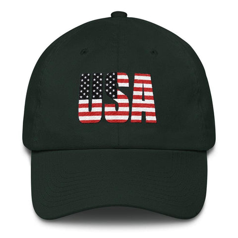 Image of USA *MADE IN THE USA* Hat - Forest Green