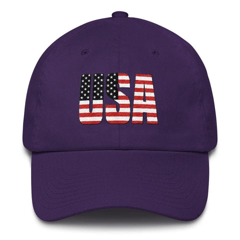 Image of USA *MADE IN THE USA* Hat - Purple