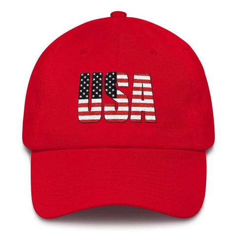 Image of USA *MADE IN THE USA* Hat - Red