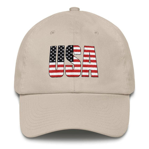 Image of USA *MADE IN THE USA* Hat - Stone