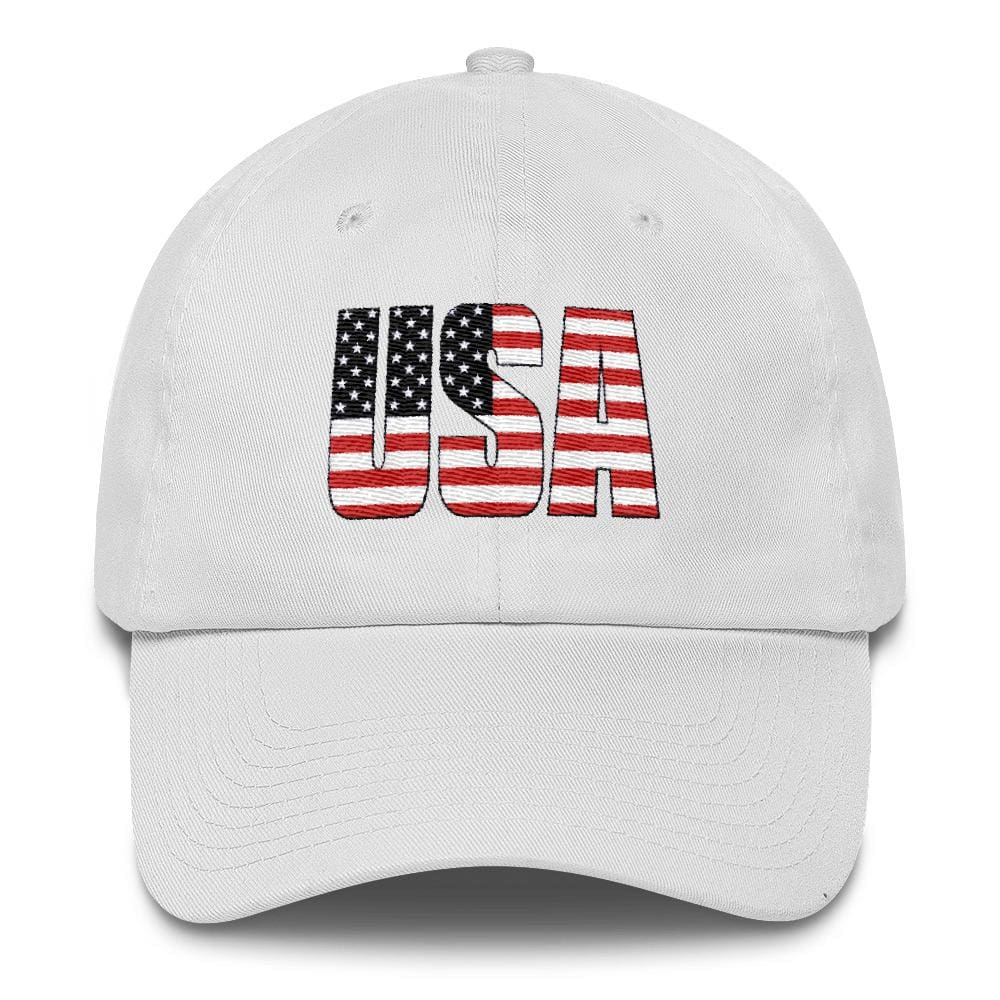 USA *MADE IN THE USA* Hat - White
