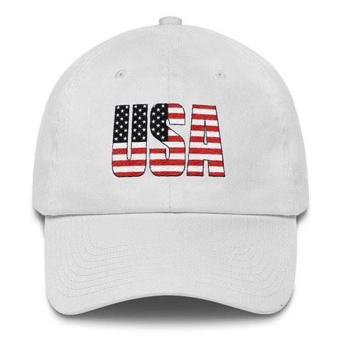 Image of USA *MADE IN THE USA* Hat - White