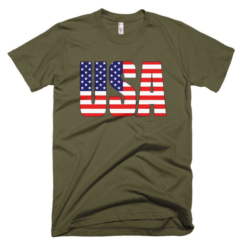 Image of USA *MADE IN THE USA* Unisex T-shirt - Army / XS