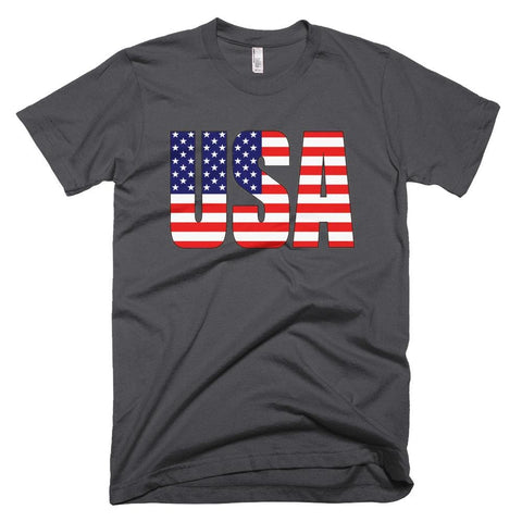 Image of USA *MADE IN THE USA* Unisex T-shirt - Asphalt / XS