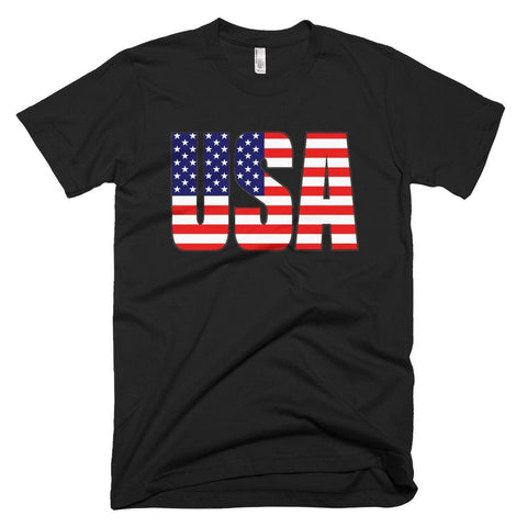Image of USA *MADE IN THE USA* Unisex T-shirt - Black / XS