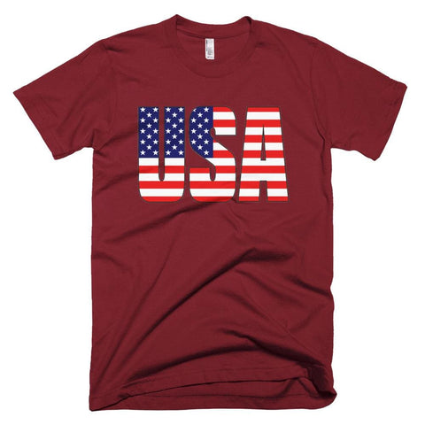 Image of USA *MADE IN THE USA* Unisex T-shirt - Cranberry / XS