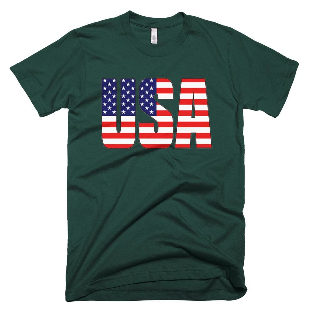 USA *MADE IN THE USA* Unisex T-shirt - Forest / XS