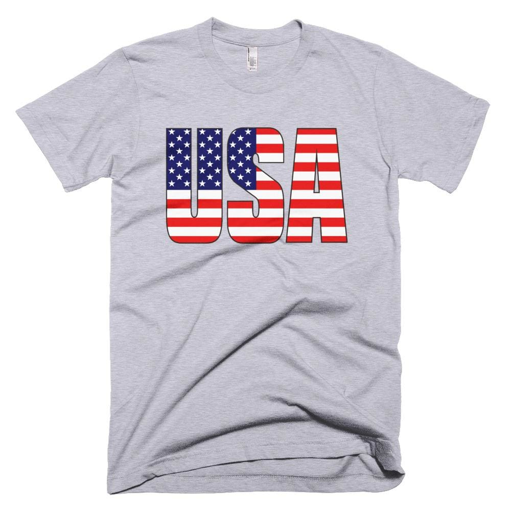 USA *MADE IN THE USA* Unisex T-shirt - Heather Grey / XS