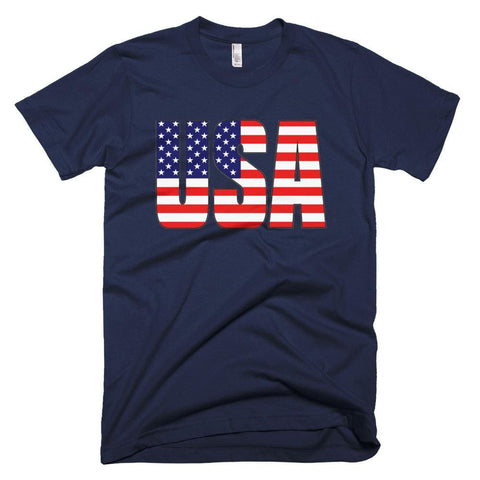 Image of USA *MADE IN THE USA* Unisex T-shirt - Navy / XS
