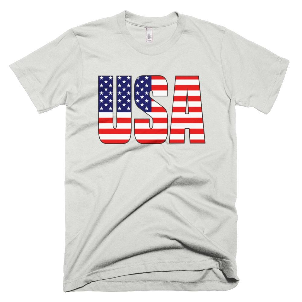 USA *MADE IN THE USA* Unisex T-shirt - New Silver / XS