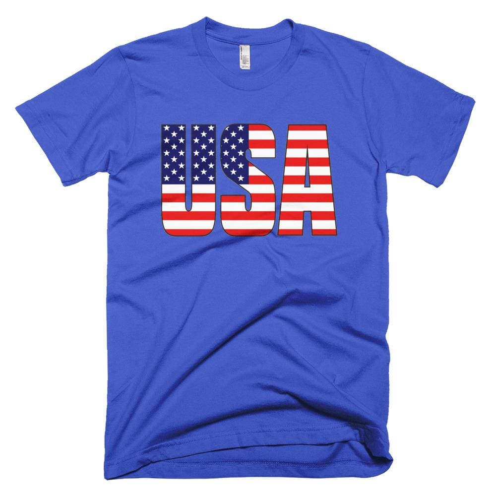 USA *MADE IN THE USA* Unisex T-shirt - Royal Blue / XS