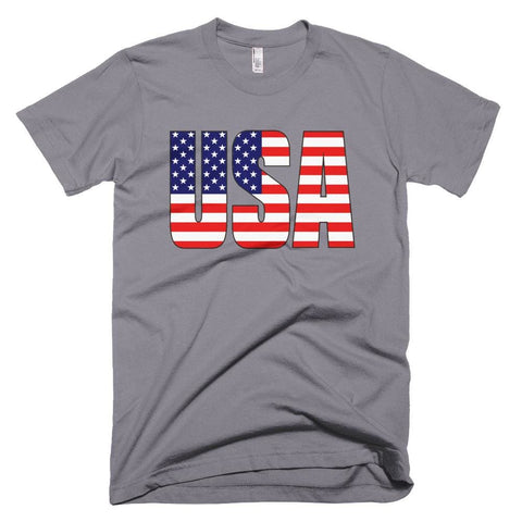 Image of USA *MADE IN THE USA* Unisex T-shirt - Slate / XS