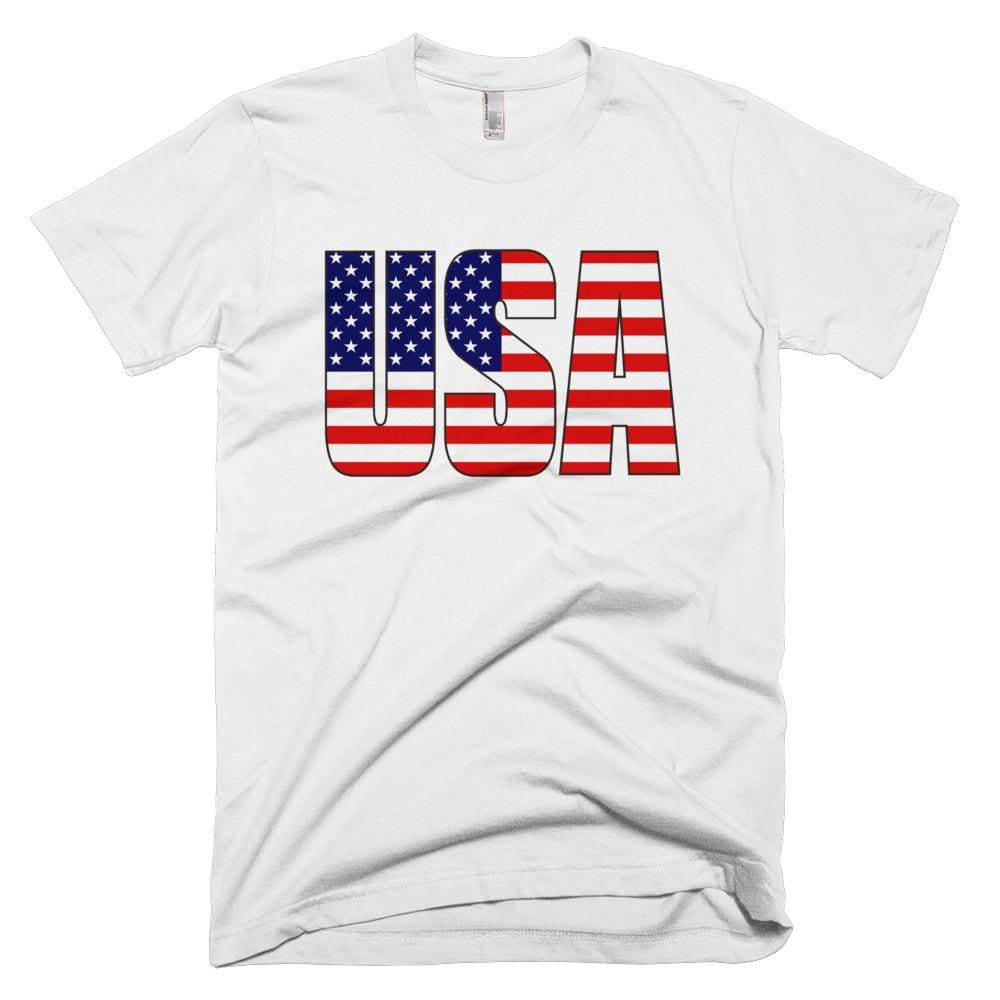 USA *MADE IN THE USA* Unisex T-shirt - White / XS