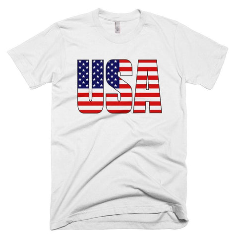 Image of USA *MADE IN THE USA* Unisex T-shirt - White / XS