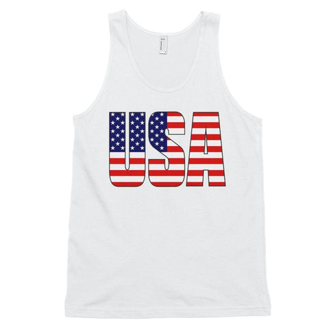 Image of USA *MADE IN THE USA* Unisex Tank Top - White / XS