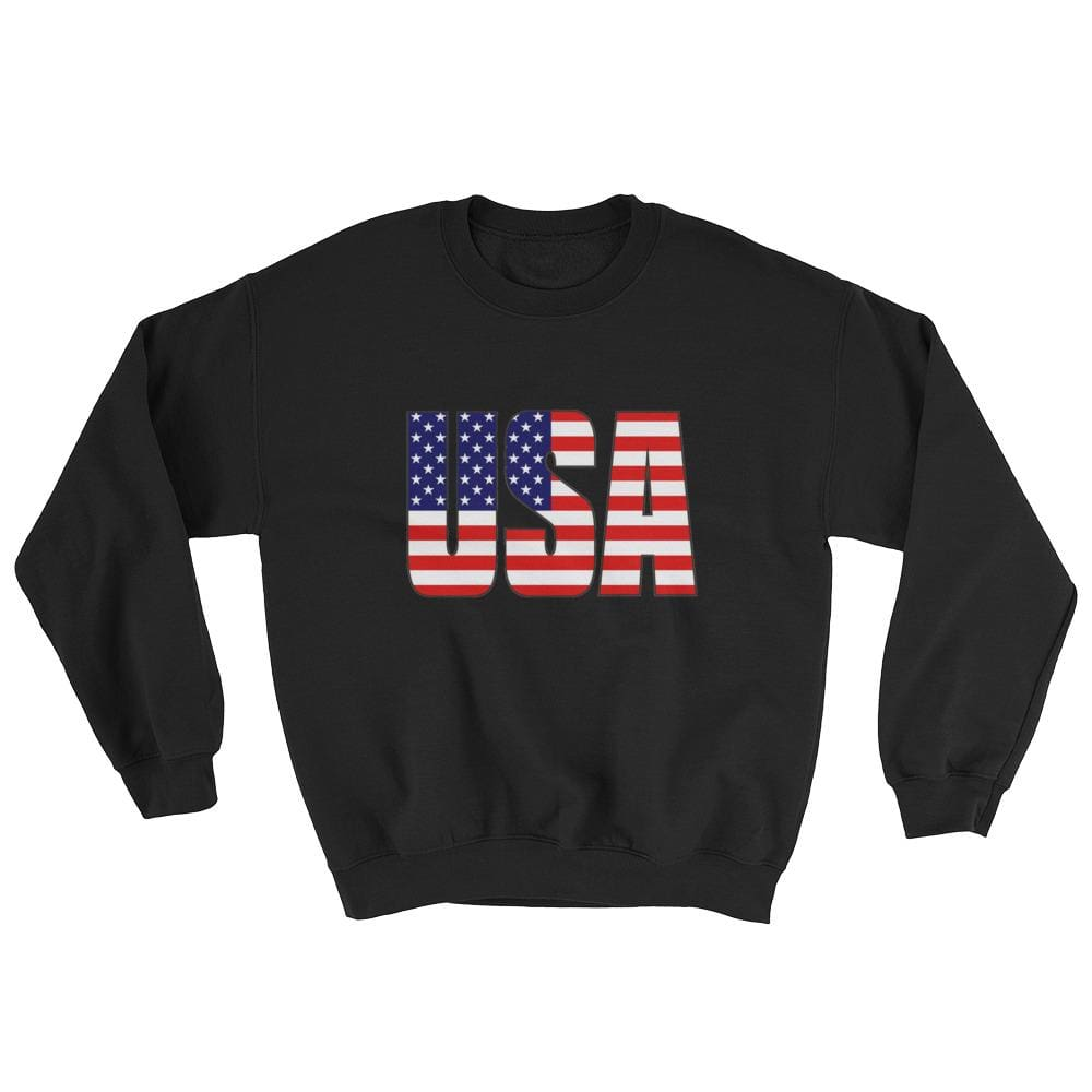 USA Sweatshirt - Black / S