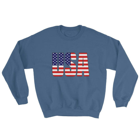 Image of USA Sweatshirt - Indigo Blue / S
