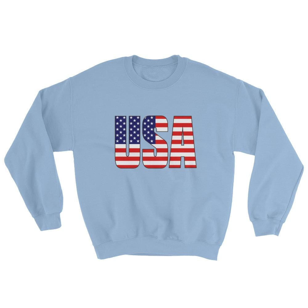 USA Sweatshirt - Light Blue / S