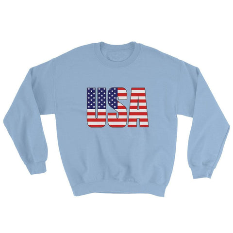 Image of USA Sweatshirt - Light Blue / S