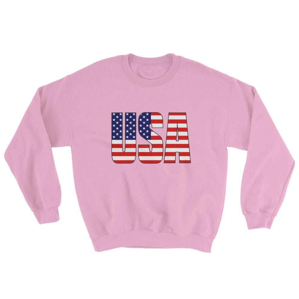 USA Sweatshirt - Light Pink / S