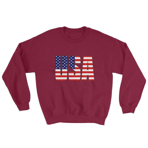 Image of USA Sweatshirt - Maroon / S