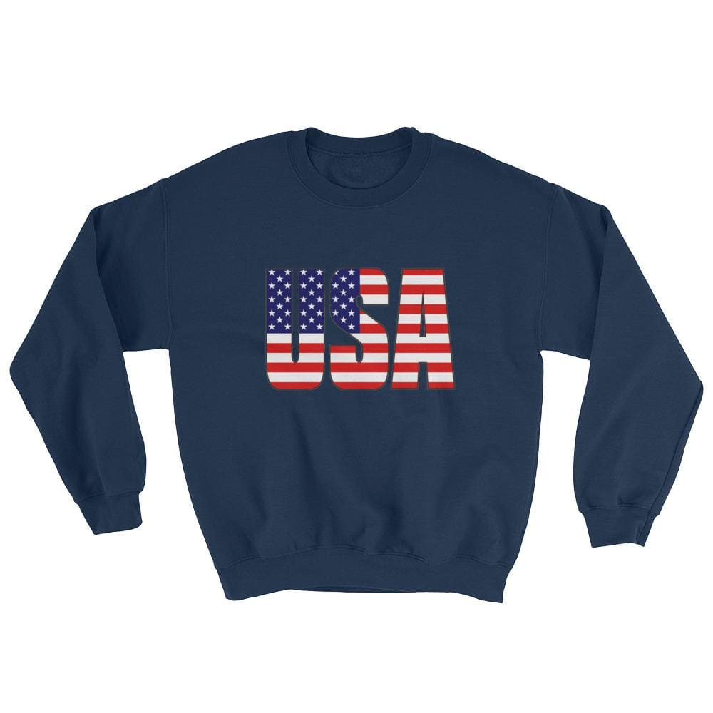 USA Sweatshirt - Navy / S