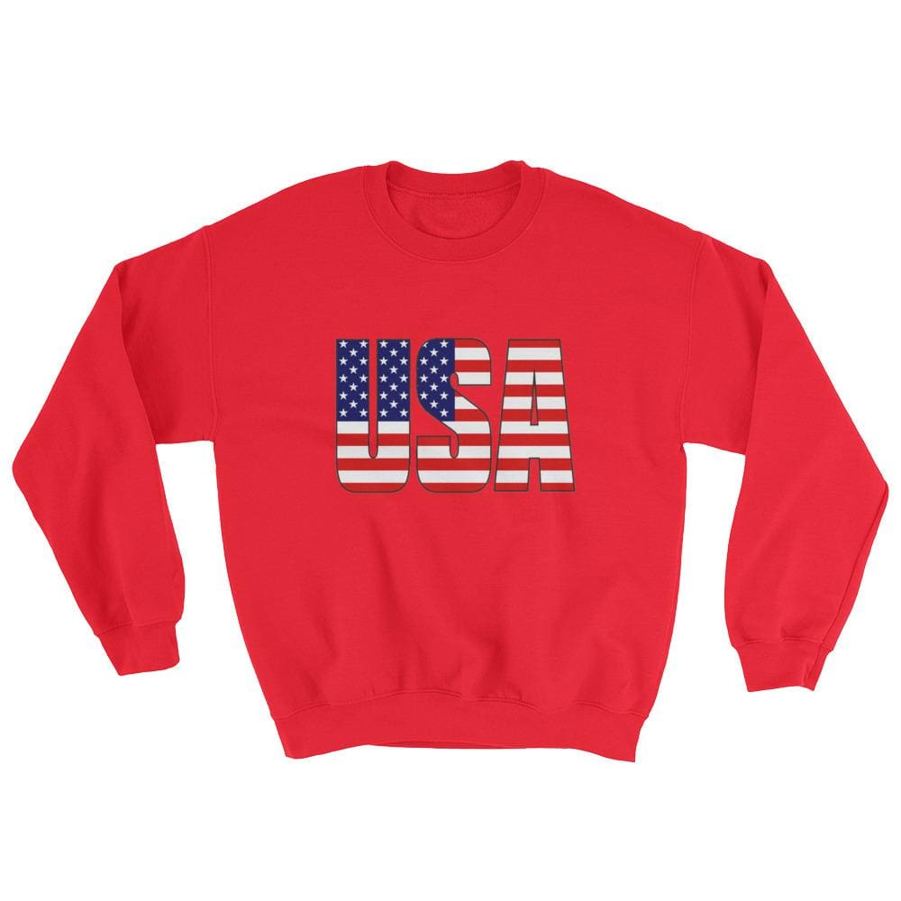 USA Sweatshirt - Red / S