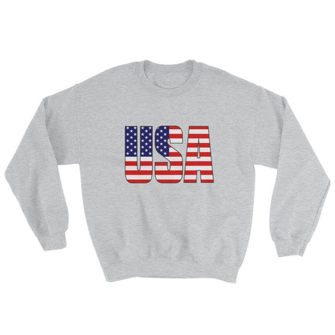 Image of USA Sweatshirt - Sport Grey / S